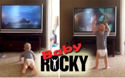 Baby Balboa! Toddler Imitates Rocky's Iconic Workout Scene (video)