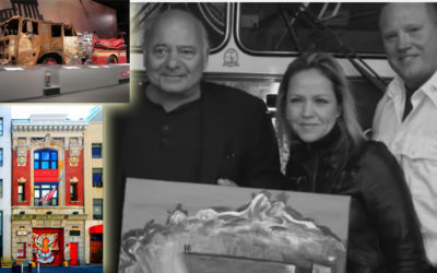 "Burt Young Presents FDNY with ""Engine 6"" Painting: Heroes of 9/11"